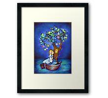 Alice in Wonderland Fantasy - Under the Dreaming Tree Framed Print