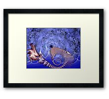 Here There Be Monsters Framed Print