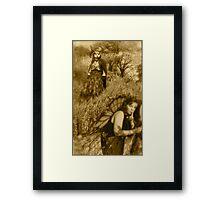 B & B sepia Framed Print