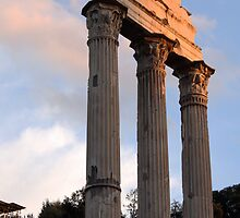 Roman Forum in Late Light by Kent Nickell