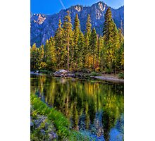 Reflections on the Merced river, Yosemite National Park Photographic Print