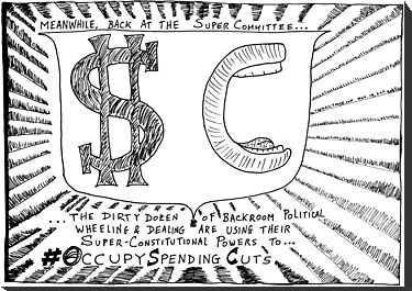 Occupy Super Committee cartoon by bubbleicious