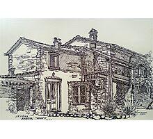 La Vigna, Anghiari, Tuscany. ink sketch. 2011© Photographic Print