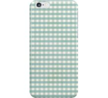 Gingham Tourquise iphone case iPhone Case/Skin