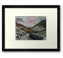 """""""Lakeland Lane"""" - Road to Watendlath, Cumbria, English Lake District Framed Print"""