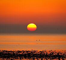 Allonby Sunset ~ November 2011 by Jan Fialkowski