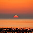 Allonby Sunset 2 ~ November 2011 by Jan Fialkowski