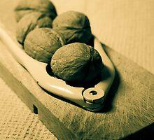 Nutcrackers and five walnut by Patrizia  Corriero
