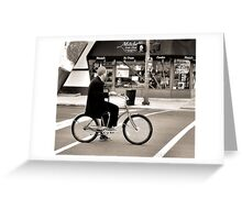 Crosswalk, Candy, Contemplation Greeting Card