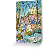 Quebec forest in autumn Greeting Card