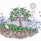 Soil life with Persimmons  by Cecilia Macaulay