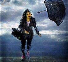 woman in the rain by carol brandt
