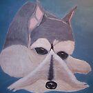 MY GRAND MOTHERS DOG ( SNOZER - ACRYLIC PAINT ) by TSykes