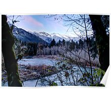Frosty Mountain Valley Poster