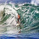Kelly Slater at 2009 Quiksilver in Memory of Eddie Aikau by Alex Preiss