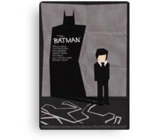 Batman 1989 - Saul Bass Inspired Poster Canvas Print