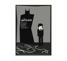 Batman 1989 - Saul Bass Inspired Poster (Untextured) Art Print