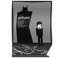 Batman 1989 - Saul Bass Inspired Poster (Untextured) Poster