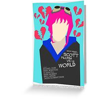 Scott Pilgrim Verses The World - Saul Bass Inspired Poster (Untextured) Greeting Card