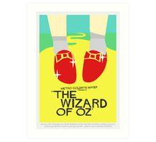 Wizard Of Oz - Saul Bass Inspired Poster (Untextured) Art Print