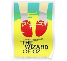 Wizard Of Oz - Saul Bass Inspired Poster (Untextured) Poster