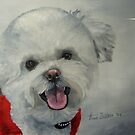 Little White Dog by Anne Zoutsos