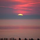 Allonby Sunset, Cumbria UK by Jan Fialkowski
