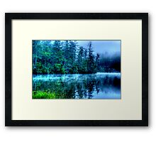 Hazy Morning on Lake Seed Framed Print