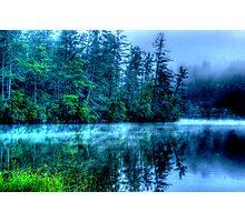 Hazy Morning on Lake Seed Photographic Print