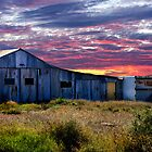 Barn at Sunset by Loredana  Smith