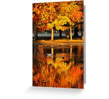 Reflection of Fall Greeting Card