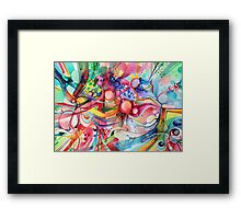 Nice Clowns You Got There - Watercolor Painting Framed Print