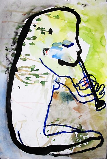 Svea plays the flute by donnamalone