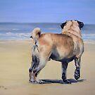 Pug Beach by Anne Zoutsos