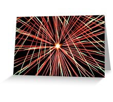 Explosive Colour 2 - Closeup Greeting Card