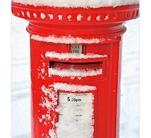 Snowy Post Box by Mal Bray