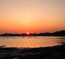 Sunset on the Gulf of Morbihan by photolumen