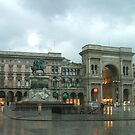 Milano in the rain by Susan Glaser