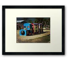 Grunge Train Framed Print