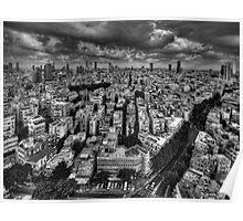 Tel Aviv retro lookout Poster