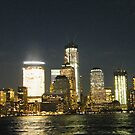 Lower Manhattan, New World Trade Center at Night, View from Jersey City, New Jersey by lenspiro