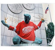 The Spirit of Detroit - Go Wings! Poster