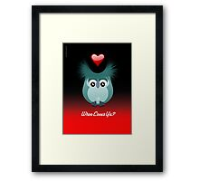 OWL LOVE Framed Print