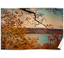 USA. New York. View from Fort Tryon Park at Hudson river. Poster