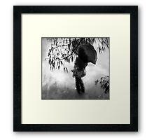 woman in the rain II Framed Print