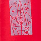Amity Slockee&#x27;s &#x27;Red Christmas Tree&#x27; by Art 4 ME