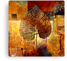 Abstract Leaf Oil Painting #1 Canvas Print