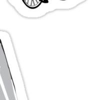 flying high T shirt Sticker