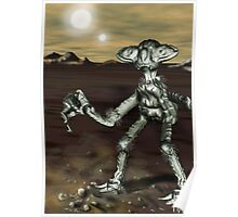 Alien Model from the Video, 'The Space Song' (MBJ) Poster