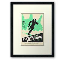 Escape From New York (1981) Custom Poster Framed Print